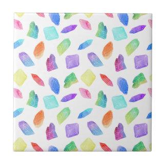 Magic Rainbow Crystals Colorful Crystal Gems Stone Tile