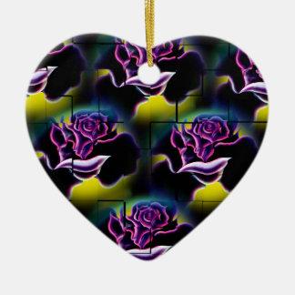 Magic roses 6 of the flowers ceramic ornament