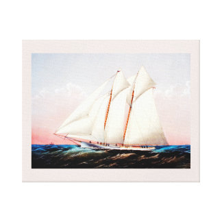 Magic, schooner yacht canvas print