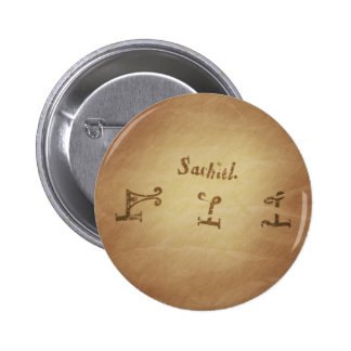 Magic Seal Angel Sachiel Protection Magic Charms 2 Inch Round Button