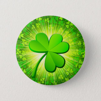 Magic shamrock 2 inch round button