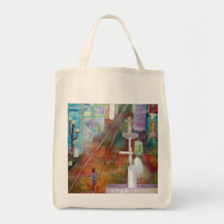 Magic shopping mall grocery tote bag