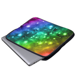Magic Sparkle Space Rainbow Laptop Sleeve
