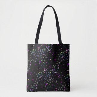 Magic Stars, Stardust, Midnight Black Tote Bag