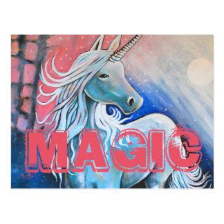 Magic the unicorn postcard