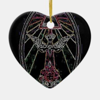 Magic tshirt ceramic heart ornament