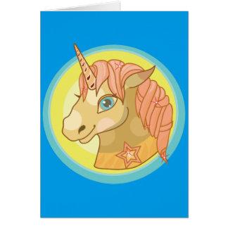 Magic Unicorn cartoon baby fantasy illustration Card