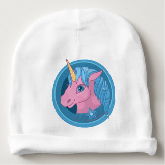 Magic Unicorn cartoon baby illustration Cute horse Baby Beanie