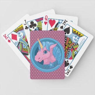 Magic Unicorn cartoon baby illustration Cute horse Bicycle Playing Cards