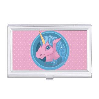 Magic Unicorn cartoon baby illustration Cute horse Business Card Cases