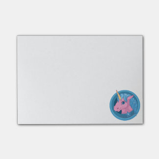 Magic Unicorn cartoon baby illustration Cute horse Post-it® Notes