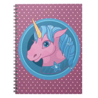 Magic Unicorn cartoon baby illustration Cute horse Spiral Notebook