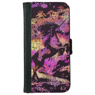 Magic Unicorn Horse Fantasy Abstract Art iPhone 6 Wallet Case