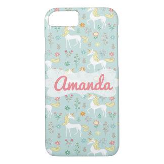 Magic Unicorn Pattern, Blue iPhone 8/7 Case