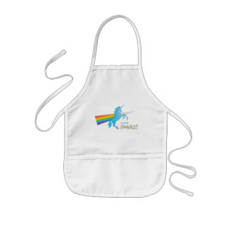 Magic Unicorn with rainbow Kids Apron