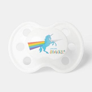 Magic Unicorn with rainbow Pacifiers