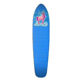 Magic Unicorn with wings Skate Deck