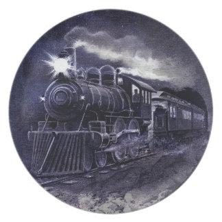 Magic Victorian Train Steam Engine Dinnerware