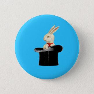 magic vintage top hat rabbit 2 inch round button