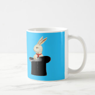 magic vintage top hat rabbit coffee mug