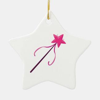 Magic Wand Ceramic Ornament