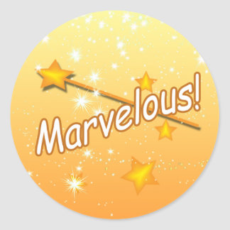 Magic Wand Marvelous Stars Teacher Award Stickers