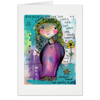 Magic Wand & Sparkly Slippers Greeting Card