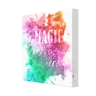 """Magic"" wrapped canvas prints"