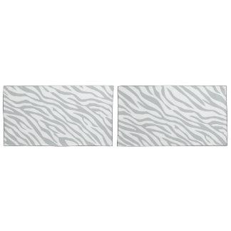 Magic Zebra Stripes Click to Customize Grey Color Pillowcase
