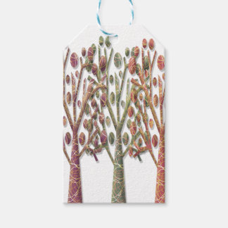Magical autumn trees pack of gift tags