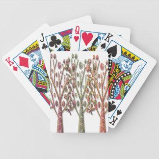 Magical autumn trees poker deck