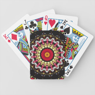 Magical Black and Red Mandala Bicycle Playing Cards