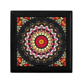Magical Black and Red Mandala Gift Box