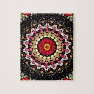 Magical Black and Red Mandala Jigsaw Puzzle