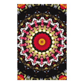 Magical Black and Red Mandala Stationery