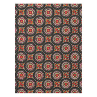 Magical Black and Red Mandala Tablecloth
