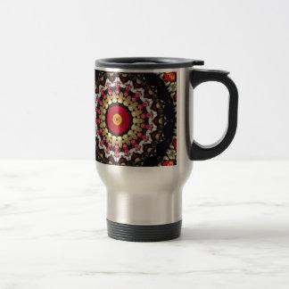 Magical Black and Red Mandala Travel Mug