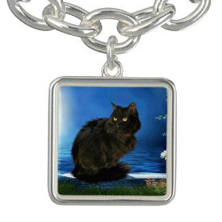 Magical Black Cat Charm Bracelet