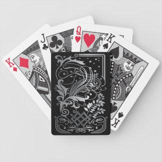 Magical Black Damask Lace Poker Deck