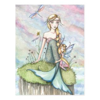 Magical Bluff Mermaid and Fairy Postcard