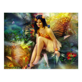 Magical Butterfly Fairy Postcard