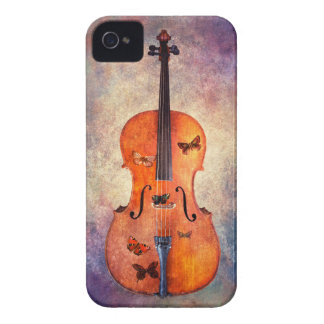 Magical cello with butterflies iPhone 4 cover