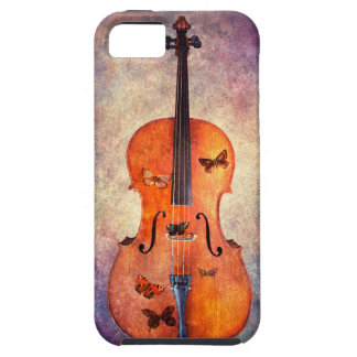 Magical cello with butterflies iPhone 5 case