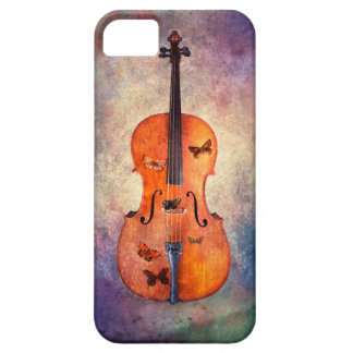 Magical cello with butterflies iPhone 5 covers