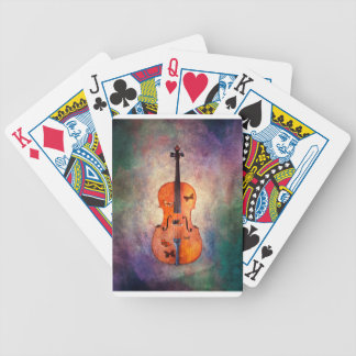 Magical cello with butterflies poker deck