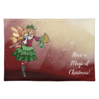 Magical Christmas Bell Fairy Placemat