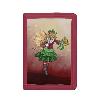Magical Christmas Bell Fairy Trifold Wallets