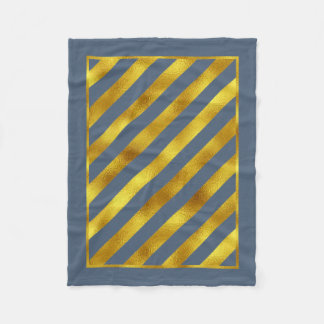 Magical Christmas Diagonal Stripes Gold ID441 Fleece Blanket