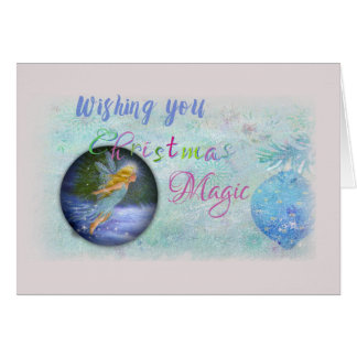 Magical Christmas Fairy Colorful Fonts Card