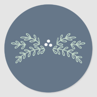 Magical Christmas Mistletoe ID441 Classic Round Sticker